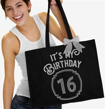 It's My Birthday '16' Frame Rhinestone Tote