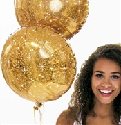 Gold Sparkle Mylar Balloon
