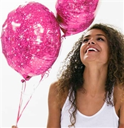 Hot Pink Sparkle Mylar Balloon