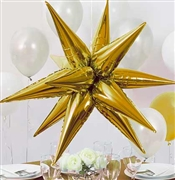 Gold Star Burst Balloon