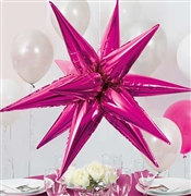 Hot Pink Star Burst Balloon