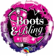 Boots & Bling Mylar Balloon