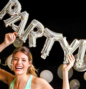 Party Silver Mylar Balloon