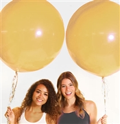 Set of 2 Giant Round Metallic Gold Balloons