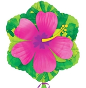 "18"" Pink Hibiscus Shaped Mylar Balloon"