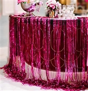 Hot Pink Fringe Curtain