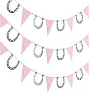 7ft Pink Cowgirl Pennant Banner