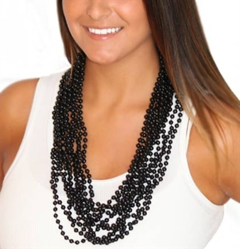 12pc Set Black Glossy Beads
