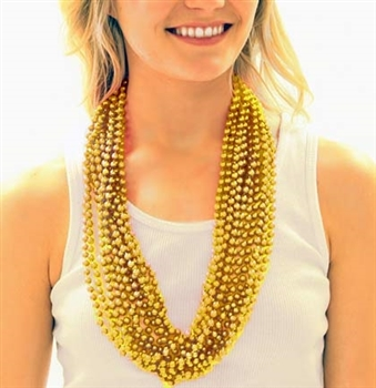 12pc Set Gold Metallic Beads
