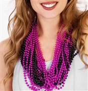 24pc Hot Pink & Black Beads