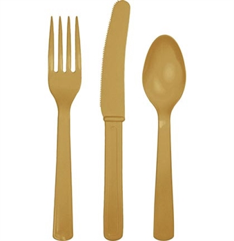 Solid Gold Party Cutlery