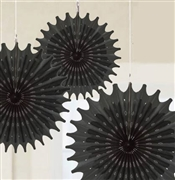 Set of 3 Black Hanging Fans