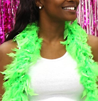 Fluffy Feather Boa: Lime Green | Sweet 16 Feather Boas