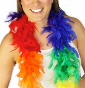 Fluffy Feather Boa: Rainbow