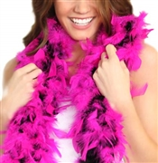 Fluffy Feather Boa: Black with Hot Magenta Tips | Sweet 16 Feather Boas