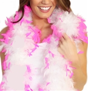 Fluffy Feather Boa: White with Pink Tips | Sweet 16 Feather Boas