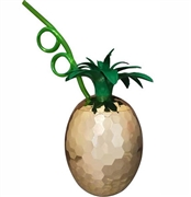 Metallic Pineapple Sipper