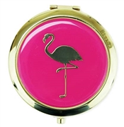 Flamingo Pink & Gold Compact