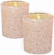 Gold Glitter Candle Holder