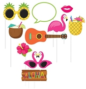 10pc Luau Photo Props
