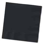 Solid Black Cocktail Napkins