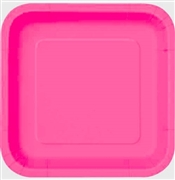 Hot Pink Square Plates