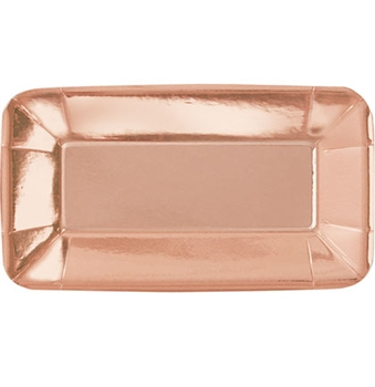 Rose Gold Appetizer Plates