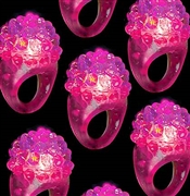 Set of 12 Pink Bumpy Rings