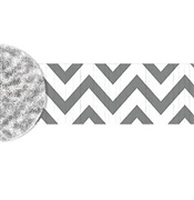 White & Silver Chevron Party Streamer