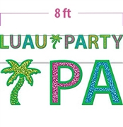 Luau Party Glitter Garland