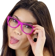 Hot Pink Eyelash Glasses