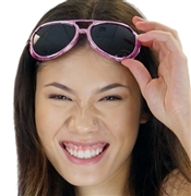 Pink Metallic Rocker Sunglasses