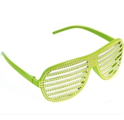 Lime Bling Shutter Sunglasses