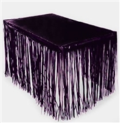 Fringe Black Table Skirt
