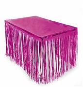 Pink Fringe Table Skirt